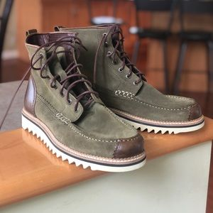 Wolverine 1883 Olive Suede Leather Lace Up Boots